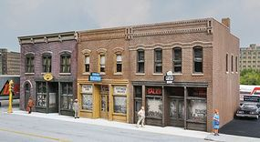 Walthers Merchants Row IV - Kit - 10-5/8 x 5 x 4 HO Scale Model Railroad Building #4040