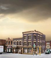 Walthers Merchants Row V - Kit - 10-1/2 x 6-7/8 x 5-5/16 HO Scale Model Railroad Building #4041