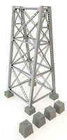 Walthers Steel Railroad Bridge Tower Kit HO Scale Model Railroad Trackside Accessory #4554