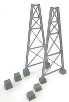 Walthers Steel Railroad Bridge Tower Bent 2-Pack Kit HO Scale Model Railroad Trackside Accessory #4555