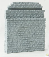 Walthers Double-Track Railroad Bridge Stone Abutment Resin Casting Approximate dimensions- 5 x 3/4 x 5-7/8'' 12.7 x 1.9 x 14.9cm