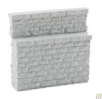 Walthers Single-Track Railroad Bridge Stone Abutment - Low - Resin Casting Approximate dimensions- 3-1/8 x 3/4 x 3 7.9 x 1.9 x 7.6cm