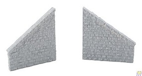Walthers Railroad Bridge Stone Wing Walls - Resin Casting One Each Left & Right; Approximately- 3-3/4 x 7/16 x 4 9.5 x 1.1 x 10.1cm