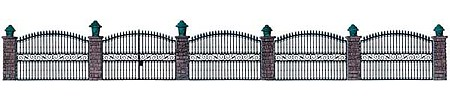 Walthers Wrought Iron Fence Kit HO Scale Model Railroad Building Accessory #550