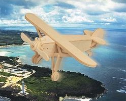 Wood-3D Spirit of St. Louis Aircraft (9 Wingspan) Wooden 3D Jigsaw Puzzle #1022
