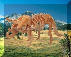 Wood-3D Triceratops Dinosaur (13 Long) Wooden 3D Jigsaw Puzzle #1041
