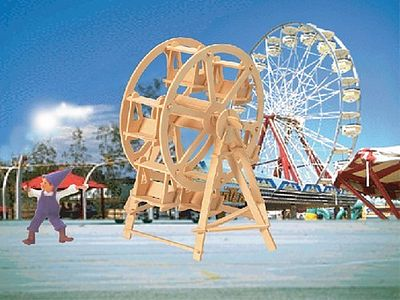 Wood 3-D Puzzles Ferris Wheel (9'' Tall) -- Wooden 3D Jigsaw Puzzle -- #1110