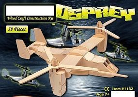 Wood-3D V22 Osprey Helicopter (14 Wingspan) Wooden 3D Jigsaw Puzzle #1132