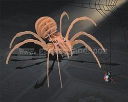 Wood-3D Black Widow Spider (14 Long) Wooden 3D Jigsaw Puzzle #1204