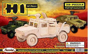 Wood-3D Military H1 Hummer Skeleton Puzzle (8.5 Long) Wooden 3D Jigsaw Puzzle #1206