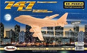 Wood-3D B747 Airliner (11 Wingspan) Wooden 3D Jigsaw Puzzle #1217