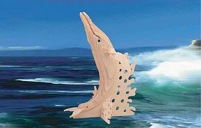 Wood-3D Humpback Whale (9.5 Tall) Wooden 3D Jigsaw Puzzle #1224