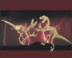 Wood-3D Deinonychus Dinosaur (2 Kits) (16 Long) Wooden 3D Jigsaw Puzzle #1235