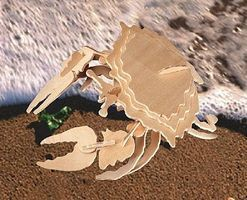 Wood-3D Stone Crab (11 Long) Wooden 3D Jigsaw Puzzle #1253