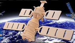 Space Satellite (13'' Wide, 9'' Tall) Wooden 3D Jigsaw Puzzle #1257