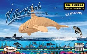 Wood-3D Killer Whale (10 Long) Wooden 3D Jigsaw Puzzle #1264