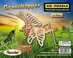 Wood-3D Grasshopper (17.3 Long) Wooden 3D Jigsaw Puzzle #1279