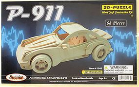 Wood-3D Porsche 911 Car Skeleton Puzzle (9.5 Long) Wooden 3D Jigsaw Puzzle #1305