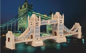 Wood-3D London Tower Bridge (22 Long) Wooden 3D Jigsaw Puzzle #1502
