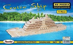 Wood-3D Cruise Ship (9 Long) Wooden 3D Jigsaw Puzzle #1515