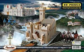 Wood-3D Medieval Fortress (8.4 Long x 6.9 Wide x 7.8 Tall) Wooden 3D Jigsaw Puzzle #1522