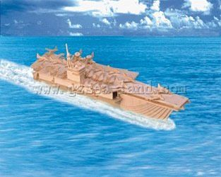 Wood 3-D Puzzles Aircraft Carrier (20'' Long) -- Wooden 3D Jigsaw Puzzle -- #1603