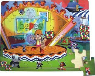 Wood 3-D Puzzles Cartoon Girl in Playroom with Toys (28pc) -- Wooden Jigsaw Puzzle -- #2005