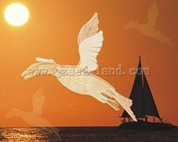 Wood-3D Artic Tern (Bird) (17'' Wingspan) Wooden 3D Jigsaw Puzzle #e24