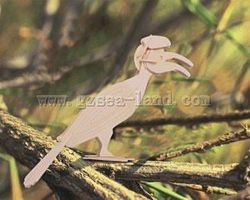 Wood-3D Hornbill Bird (7.5'' Tall) Wooden 3D Jigsaw Puzzle #e34