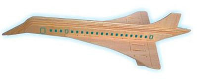Wood 3-D Puzzles Concorde Airliner (14'' Long) -- Wooden 3D Jigsaw Puzzle -- #p121