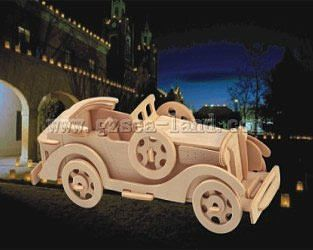 Wood 3-D Puzzles Packard Twelve Car (10.5'' Long) -- Wooden 3D Jigsaw Puzzle -- #p15