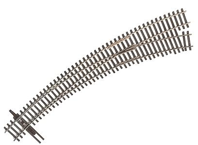 Walthers Shinohara Track Code 83 Nickel Silver DCC Friendly Curved Turnout -- #6-1/2 Right Hand - Inside Radius 20'', Outside Radius 24'' - HO-Scale