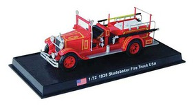 William-Tell Studebaker Fire Truck Assembled South Bend, Indiana, 1928 (red) 1/72 Scale