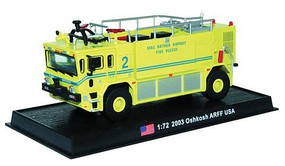 William-Tell Oshkosh Airport and Firefighting (ARFF) Truck Assembled MacArthur Airport, Long Island, New York 2003 (yellow, blue) 1/72 Scale