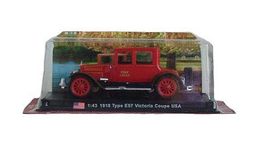 William-Tell Cadillac Type 57 Victoria Fire Chief Coupe Assembled Springfield, 1918 (red, black) 1/43 Scale
