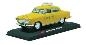 William-Tell 1955 GAZ M-21 Wolga Assembled Moxcow, USSR, Taxi (yellow, Russian Lettering) O-Scale