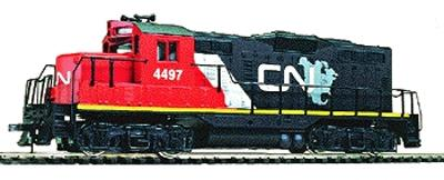 Walthers Trainline EMD GP9M Canadian National #4497 -- Model Train Diesel Locomotive -- HO Scale -- #104