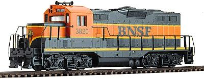 Walthers Trainline EMD GP9M Burlington Northern Santa Fe #3820 -- Model Train Diesel Locomotive -- HO Scale -- #120