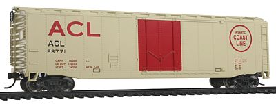 Walthers-Trainline Boxcar Ready To Run Atlantic Coast Line Model Train Freight Car HO Scale #1400