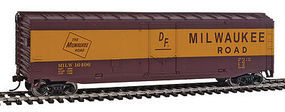 Walthers-Trainline Boxcar Ready to Run Milwaukee Road HO Scale Model Train Freight Car #1405