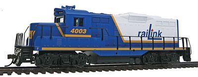 Walthers Trainline EMD GP9M RailLink #4003 (blue, white, yellow) -- Model Train Diesel Locomotive -- HO Scale -- #141