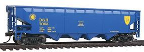 Walthers-Trainline Offset Hopper Delaware & Hudson (Blue, Yellow) Model Train Freight Car HO Scale #1420