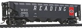 Walthers-Trainline Offset Hopper Ready to Run Reading Model Train Freight Car HO Scale #1422