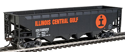 Walthers Trainline Hopper Ready to Run Illinois Central -- HO Scale Model Train Freight Car -- #1426