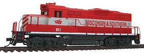 Walthers-Trainline EMD GP9M Wisconsin & Southern #911 (red, gray) Model Train Diesel Locomotive HO Scale #143