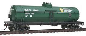 Walthers-Trainline Tank Car Ready To Run British Columbia Railway Model Train Freight Car HO Scale #1441