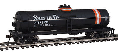 Walthers Trainline Tank Car Ready to Run Santa Fe -- HO Scale Model Train Freight Car -- #1444