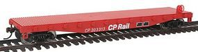 Walthers-Trainline Flatcar Ready to Run Canadian Pacific Model Train Freight Car HO Scale #1460