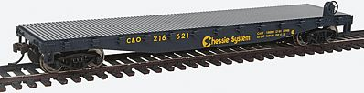 Walthers Trainline Flatcar Ready to Run Chessie -- Model Train Freight Car -- HO Scale -- #1461