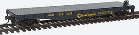 Walthers-Trainline Flatcar Ready to Run Chessie Model Train Freight Car HO Scale #1461